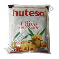 Оливки зеленые без косточки Hutesa с паприкой, 180 г