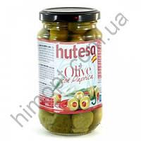 Оливки зеленые без косточки Hutesa с паприкой, 900 г