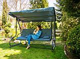Садова качеля Campela розкладна 230 см + НАКРИТТЯ, фото 4