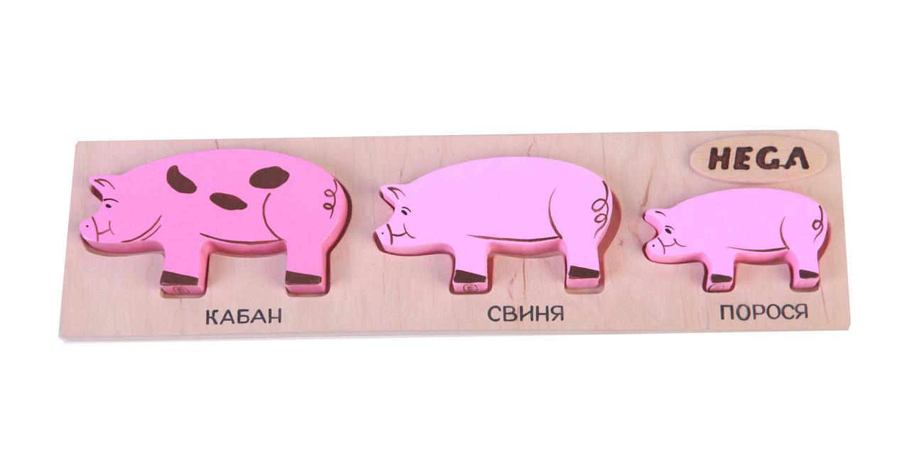 "Набор фигурок-вкладышей Hega ""Свиньи""  (129)"