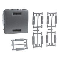 Выключатель кнопочный KNX Алюминий Unica Schneider, MGU3.530.12