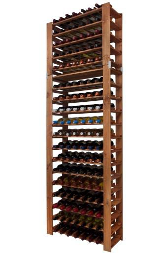 Винная полка деревянная RW-5-4 для 126 бутылок