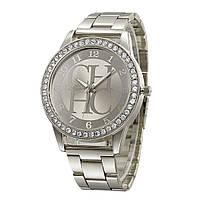 Роскошные женские часы сталь серебро