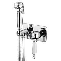 Смеситель для биде с гигиеническим душем скрытого монтажа Bugnatese Oxford 6366 хром