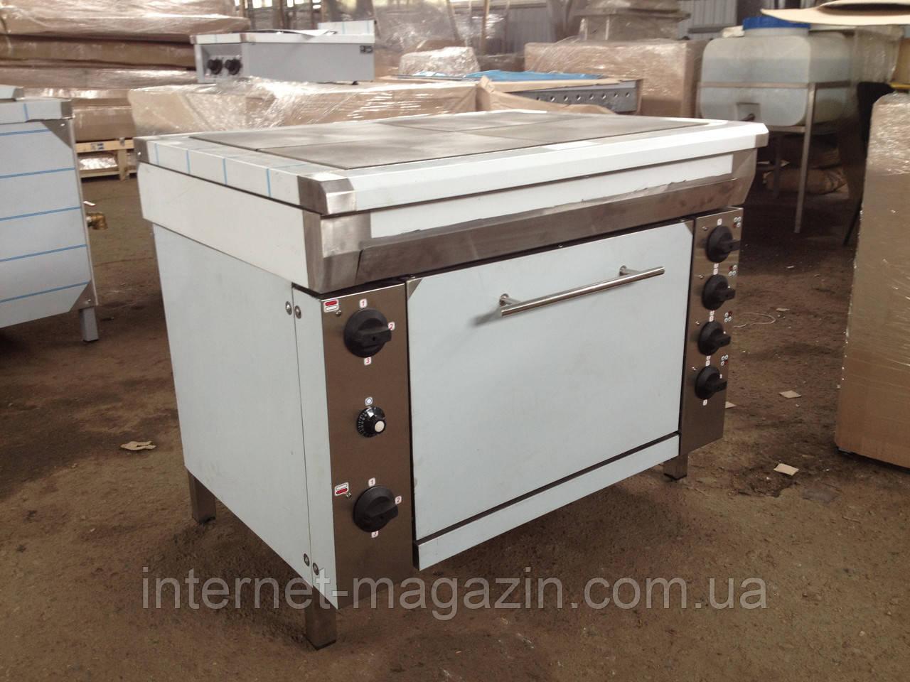 Плита промышленная с духовым шкафом 4-конфорочная