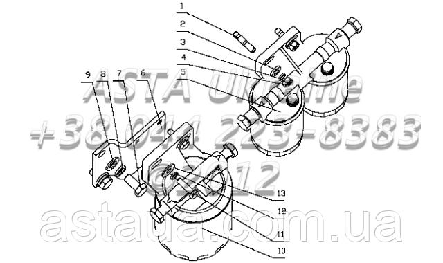 Топливный фильтр в сборе B7735-1105000