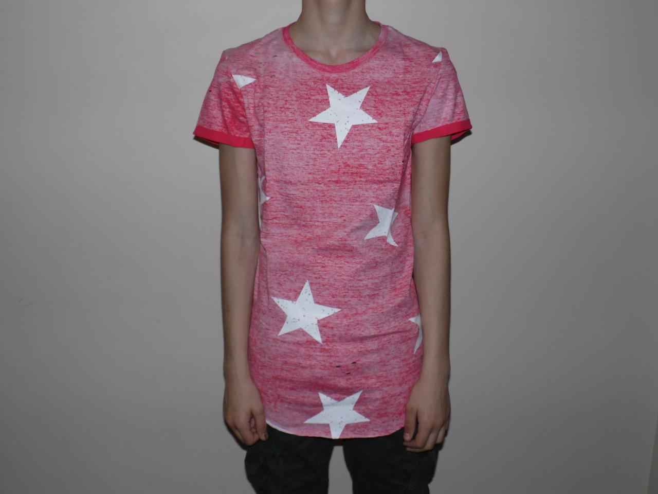 Купить Мужская футболка удлиненная 5389., Glo-story