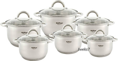 Набор посуды HOFFNER4360   INDUKCJA 12 эл, фото 2