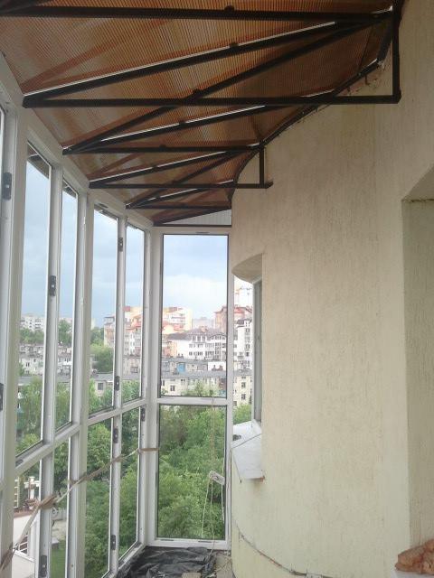 """Балкон """"Французький"""" (французьке скління)"""