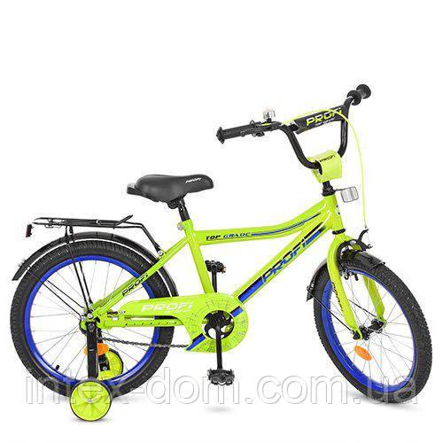 """Двухколесный велосипед Profi Top Grade 18"""" Салатовый (Y18102)"""