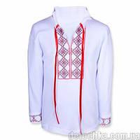 Вышиванка Козачок стрейч кулир (52 (92) Белая с красными ромбами)
