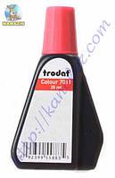Штемпельная краска Trodat 7011 28 мл, красная