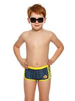Детские плавки-шорты для мальчиков под джинс с желтыми полосками Nirey, Италия 116-122 см на 5-6 лет