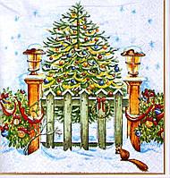 Салфетки для декупажа Новогодняя красавица ель 505