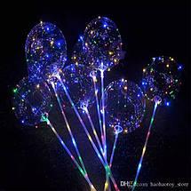Светящийся LED шарик 45см  с палочкой, фото 3