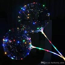 Светящийся LED шарик 45см  с палочкой, фото 2