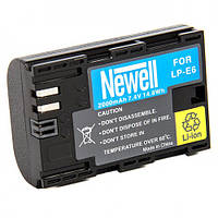 Аккумулятор Newell LP-E6 for Canon 5M2 5M3 5M4 6D 70D 80D (LP-E6) , фото 1