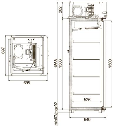 Холодильный шкаф Polair CV105 Sm-Alu, фото 2