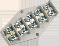 Клеммная колодка пятиполюсовая сечением до 16 мм2