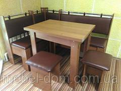 Кухонный уголок Гетьман со столом и двумя табуретами