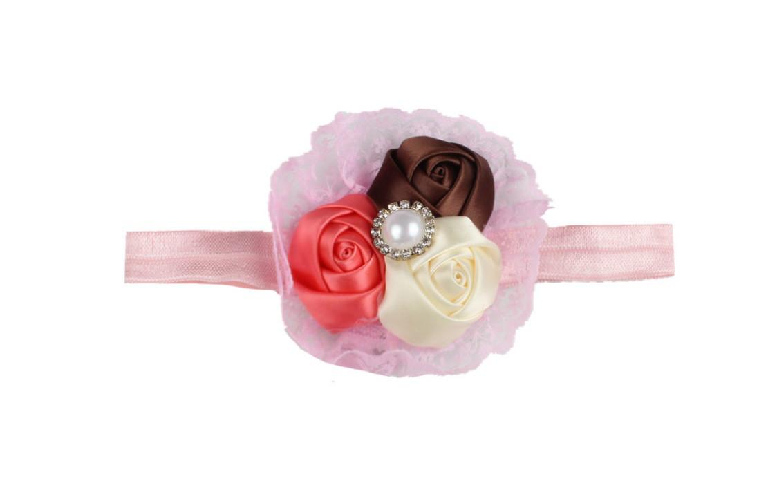 Повязка резинка с цветком на голову девочке