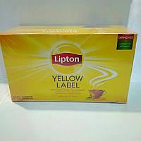 Чай Липтон Yellow Lable чёрный байховый 50 пакетов по 2г