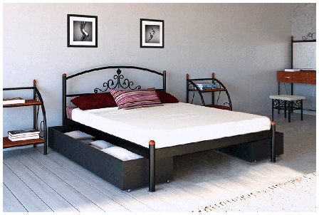 Кровать Кассандра фабрика Металл дизайн, фото 2