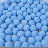 Помпоны  голубого цвета,  малые 15 мм (Польша), фото 2