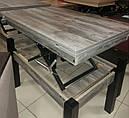 Стол трансформер Флай  дуб морас, журнально-обеденный, фото 2