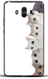 Бампер силиконовый для Huawei honor mate 10 с картинкой котята