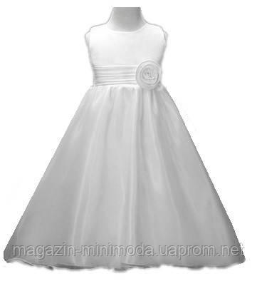 f1a03eabb6b Белое длинное платье для девочки