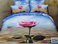 Сатиновое постельное белье евро 3D ELWAY S234