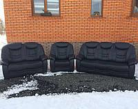 Кожаный комплект диванов