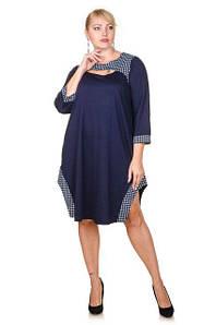 Оригинальное платье Ксанти с принтом лапки и рукавами три четверти52-62 р