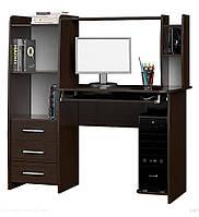Компьютерный стол Лира (1250х600х1250) (1250х600х1250) ВЕНГЕ ТЕМНЫЙ
