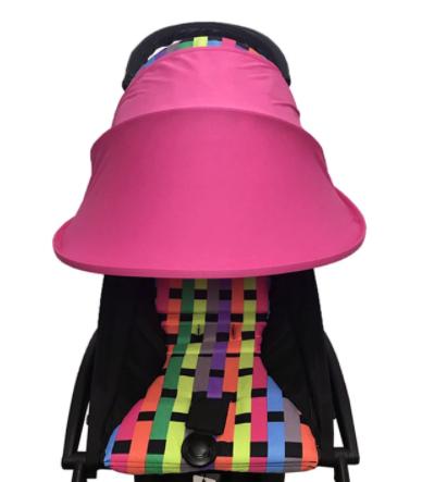 Солнцезащитный козырек для коляски. Цвет Малиновый.