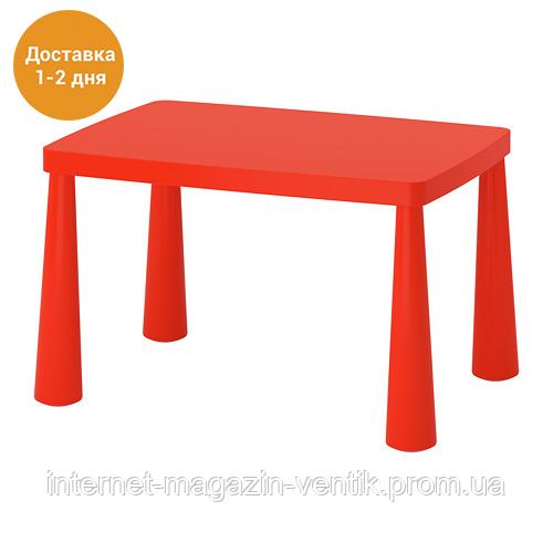 Красный детский стол IKEA МАММУТ 603.651.67