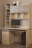 Компьютерный стол Школьник-6 (1250х600х1966) (1250х600х1966) ДУБ СОНОМА + ДУБ ТРЮФЕЛЬ