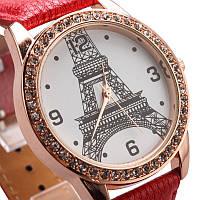 Наручные Часы «Эйфелева башня» красные