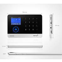 Беспроводная домашняя система охранной сигнализации WIFI + GSM Dual Network Alarm Controller  PG-103