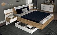 Кровать мягкая спинка с тумбами и ящиком 160 Асти/Asti (Миро Марк/MiroMark)