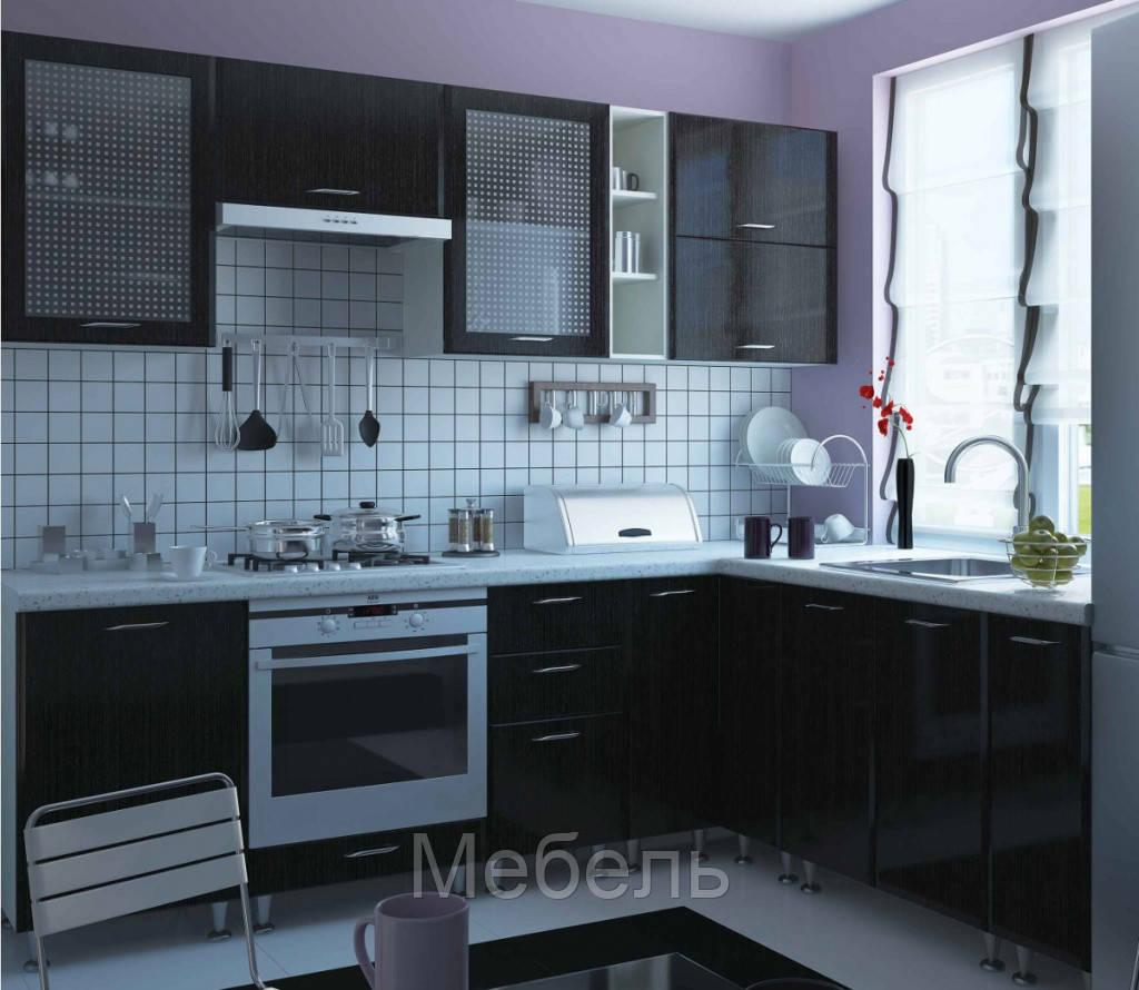 """Кухня """"София Градо""""(2 м) фасад черный орех,ф-ка """"Сокме"""""""