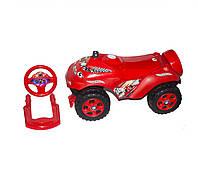 Красная машинка-каталка Автошка с музыкой Долони 0142/05UA
