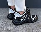 Женские кроссовки Louis Vuitton Archlight Black (в стиле Луи Витон) черные, фото 6