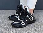 Женские кроссовки Louis Vuitton Archlight Black (в стиле Луи Витон) черные, фото 4