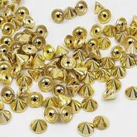 Шип декоративный конус 10 x 10 мм, забивной, цвет - золото