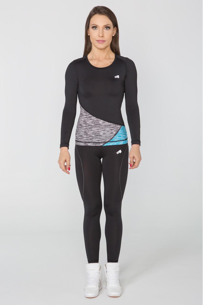Спортивная женская футболка с длинным рукавом Rough Radical Reaction LS, лонгслив,рашгард,компрессионная