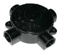 Розподільна коробка 3х - 4х ріжкова карболит (чорна), фото 1