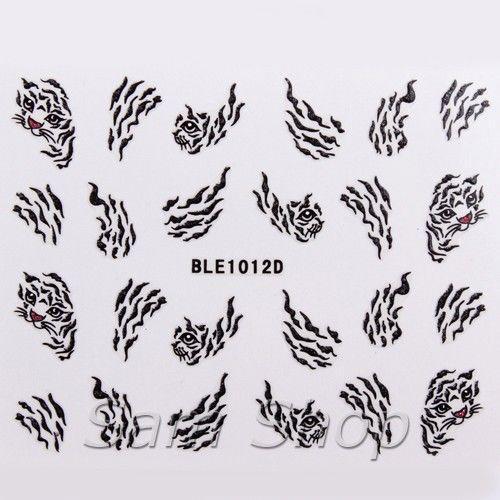 Наклейки для ногтей  BLE1012D