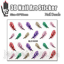 Наклейки для ногтей BLE1020D